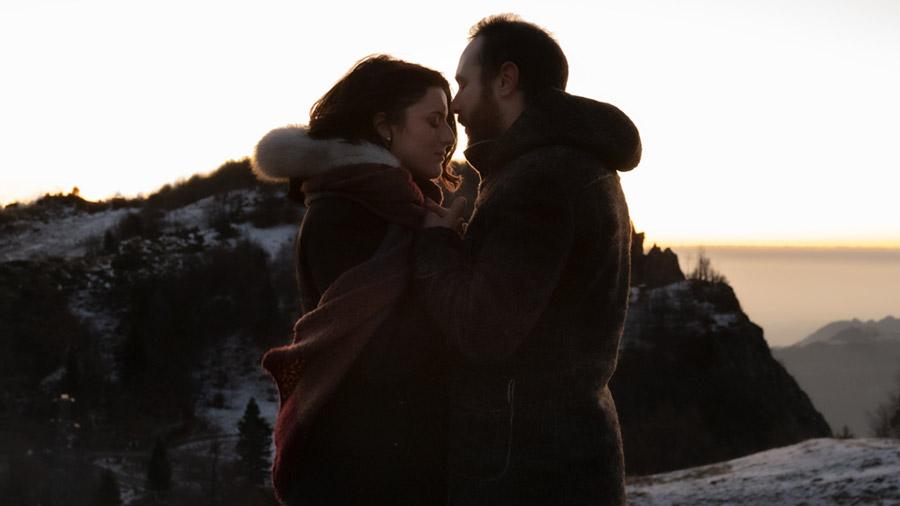 WAVE Dolomites couple shooting sunrise