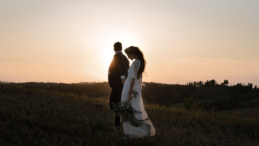 WAVE Tuscany elopement sunrise